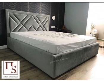 Мягкая двуспальная кровать Геометрия