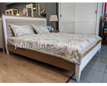 Кровать двуспальная с мягким изголовьем Бавария
