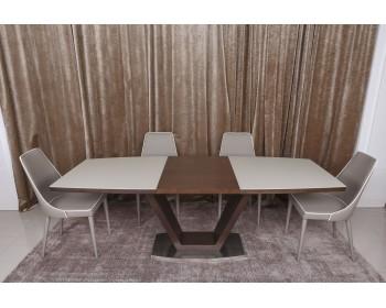 Стол обеденный DETROITвенге/крем
