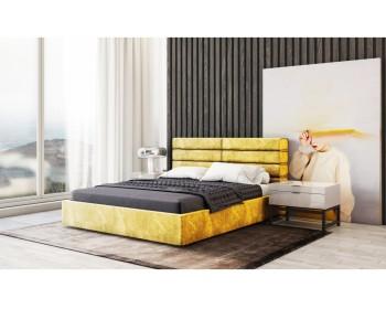 Мягкая двуспальная кровать Gera