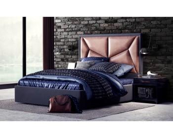 Мягкая двуспальная кровать Miki