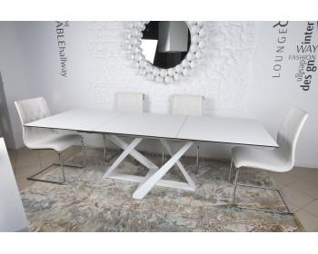 Стол обеденный FLEETWOOD белый (керамика)