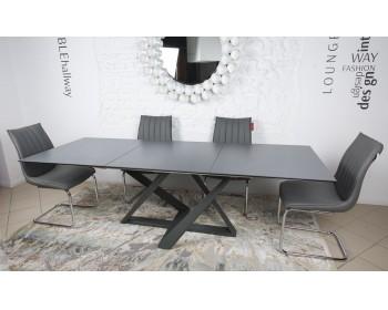 Стол обеденный FLEETWOOD мокрый асфальт (керамика)