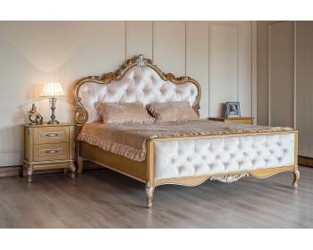 Кровать Империя с высоким изножьем