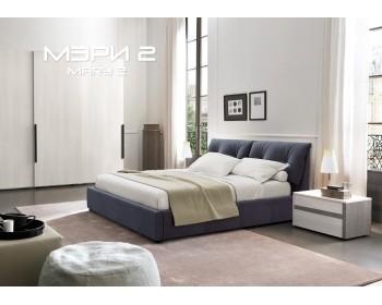 Мягкая двуспальная кровать Мери