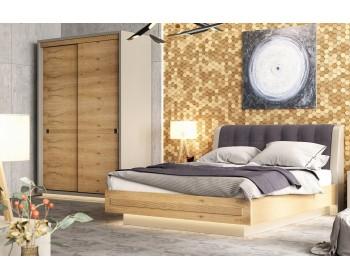 Спальня Прайм ( кровать+комод+тумбы прикроватные)