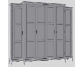 Шкаф для одежды  6Д Палермо